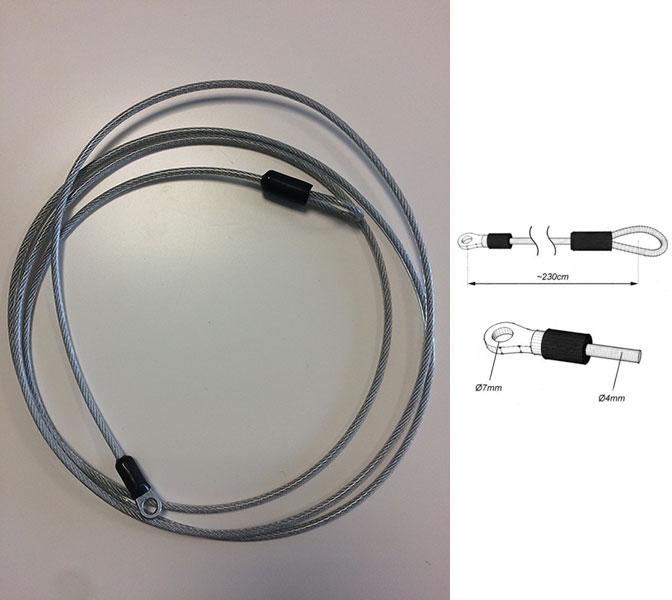câble d'attache bâches acoustiques