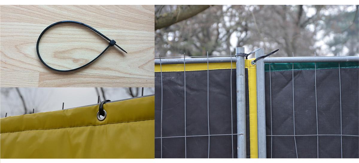 collier à serrage rapide pour les bâches acoustiques