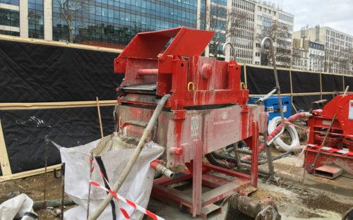 Bâches acoustiques pour le chantier du RER Eole à Neuilly sur Seine