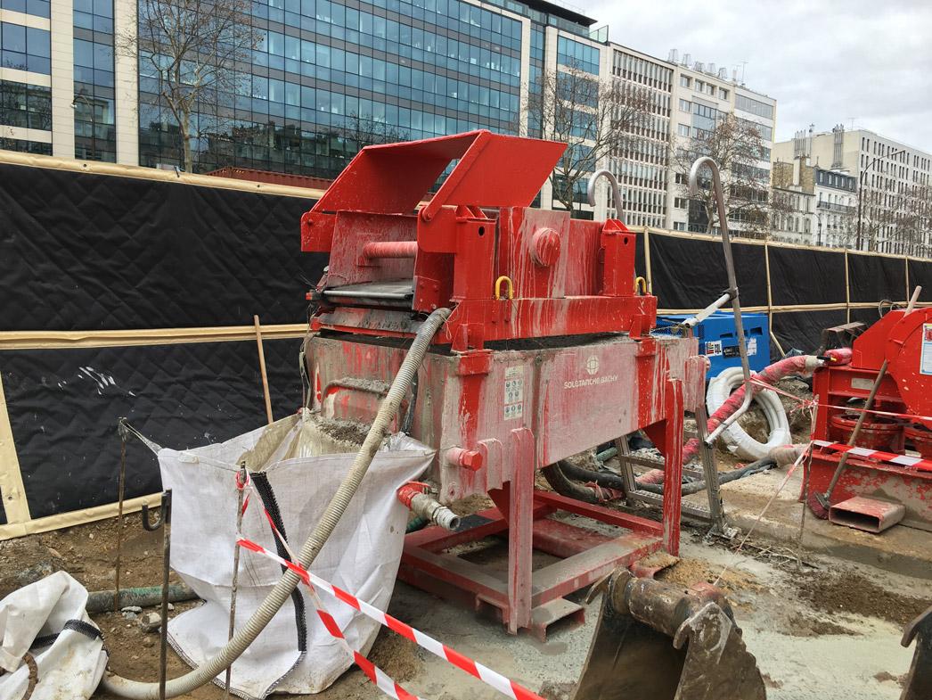 Bâches acoustiques pour le chantier du RER Éole à Neuilly sur Seine