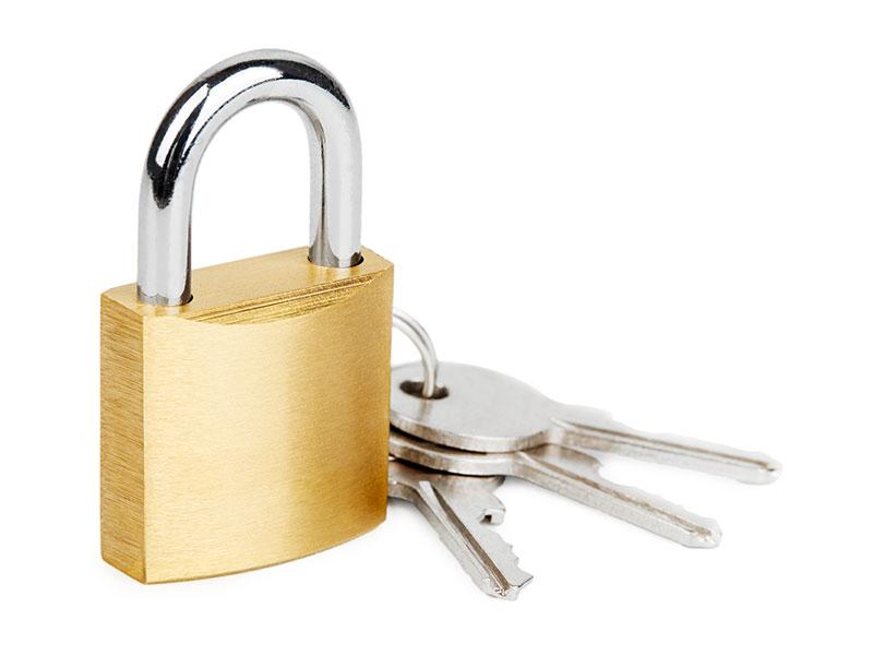 câble avec cadenas à clé - accessoires pour les bâches acoustiques