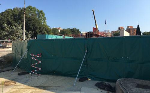 Bâches acoustiques pour le chantier de modernisation de la ligne TER à Aix-en-Provence