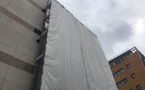 Bâches acoustiques RIGA pour le chantier SWAYS en Île de France (Issy-Les-Moulineaux)