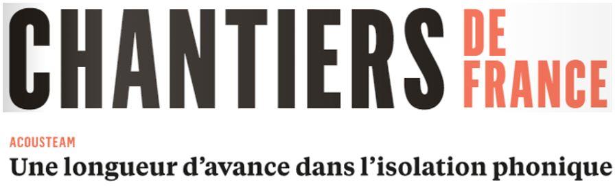 Acousteam dans la revue Chantiers de France