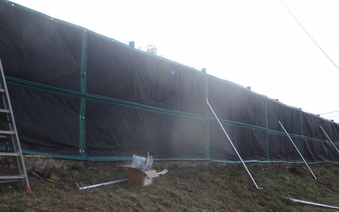 Bâches acoustiques OSLO sur un site industriel à Annonay (Ardèche)