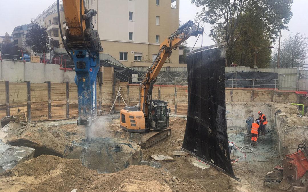 Grande Bâche acoustique OSLO grutable pour les chantiers d'un de nos clients sur Paris