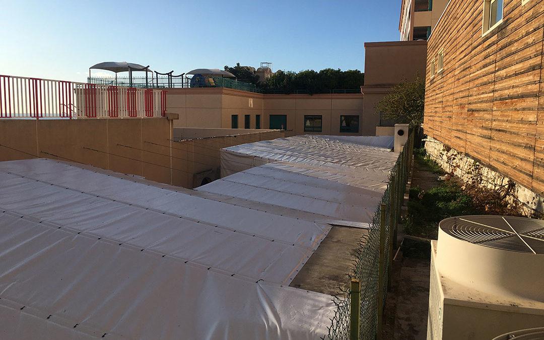 Bâches acoustiques RIGA pour l'hôpital de Monaco