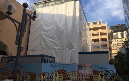 Bâches acoustiques RIGA pour la rénovation d'un bâtiment sur Monaco