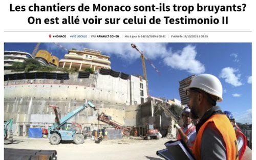 Quand le bruit des chantiers fait la Une à Monaco, Acousteam répond présent !