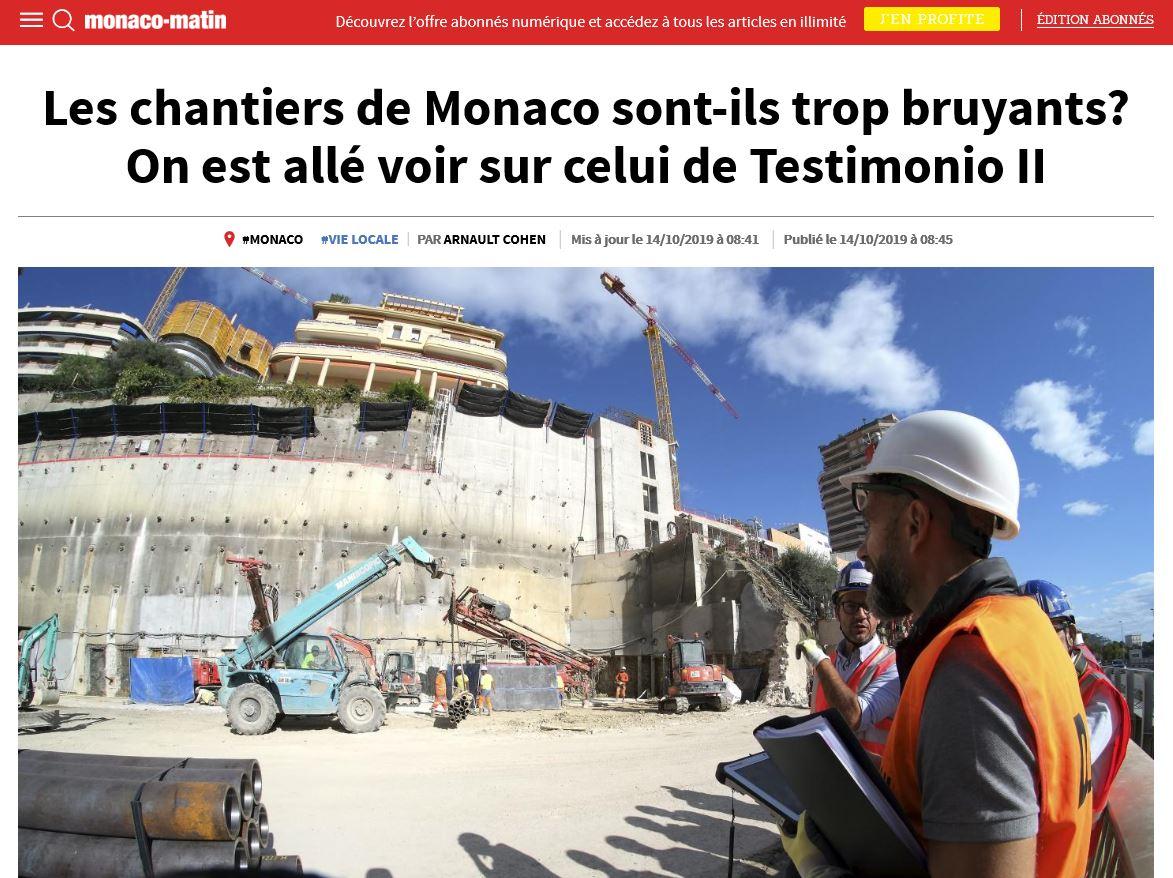 solutions acoustiques Acousteam à Monaco