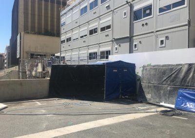 Tentes acoustiques BERLIN pour un chantier à Monaco - Solutions acoustiques ACOUSTEAM