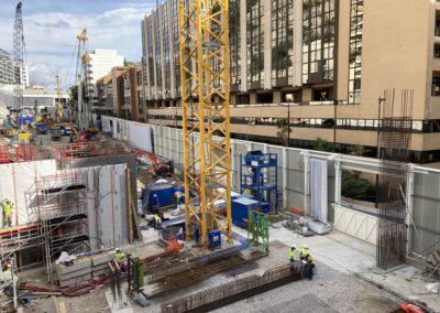 Portes acoustiques (bâches acoustiques) pour un chantier à Monaco - Acousteam solutions acoustiques